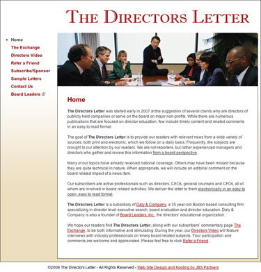 The Directors Letter - TheDirectorsLetter.com