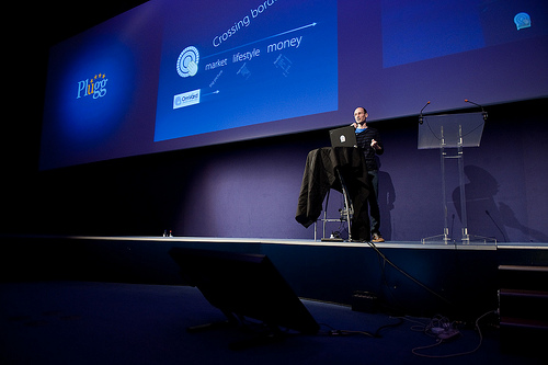 Presenter with slide