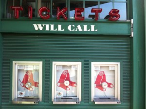 Boston Red Sox Will Call Ticket Booth