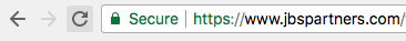 Google Chrome Secure Padlock indicates HTTPS
